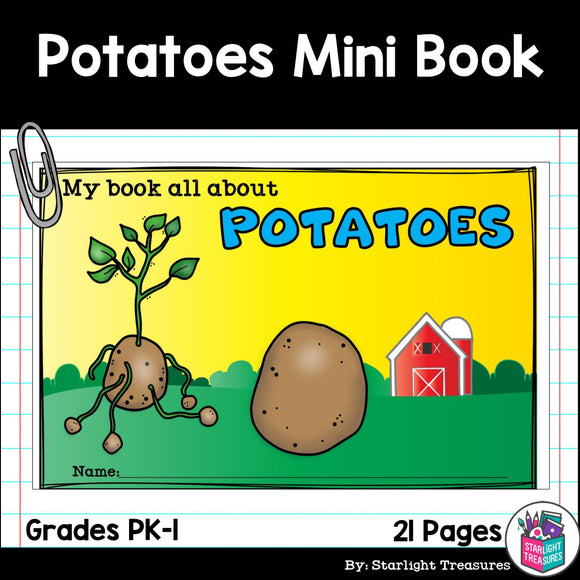 Potato Mini Book for Early Readers