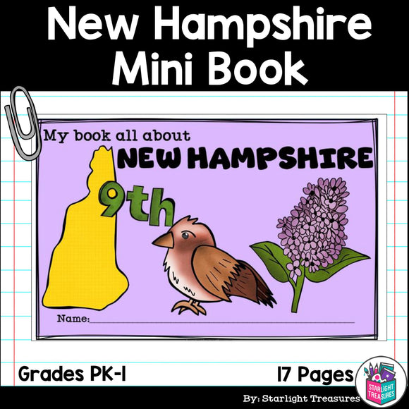 New Hampshire Mini Book for Early Readers - A State Study