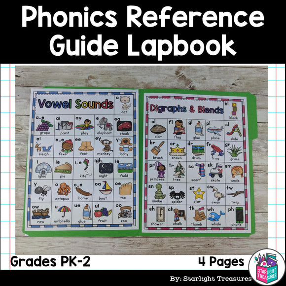 Phonics Reference Guide Lapbook for Early Readers FREEBIE