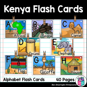 Kenya Flash Cards