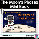 The Moon's Phases Mini Book for Early Readers: Phases of the Moon