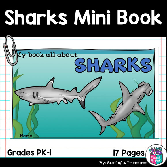 Sharks Mini Book for Early Readers