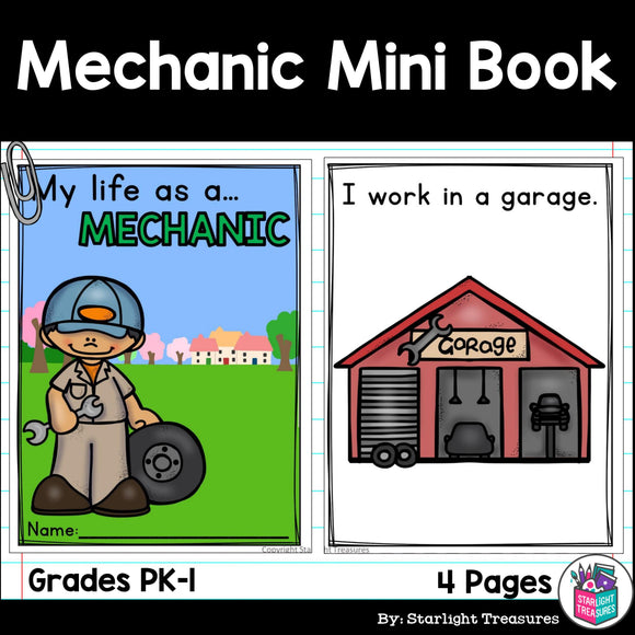 Mechanic Mini Book for Early Readers