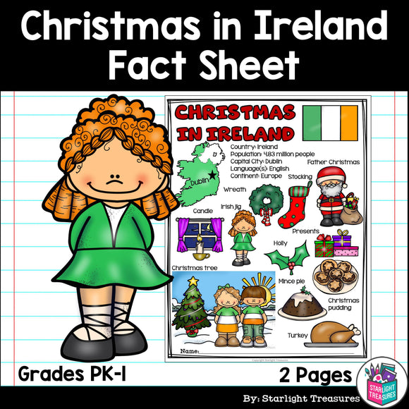 Christmas in Ireland Fact Sheet for Early Readers