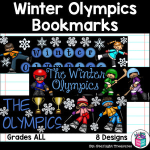Winter Olympics 2018 Cut n' Color Bookmarks