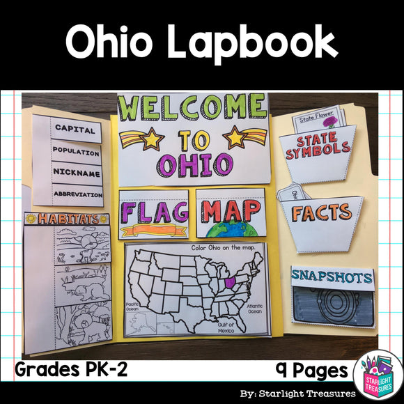 Ohio Lapbook for Early Learners - A State Study