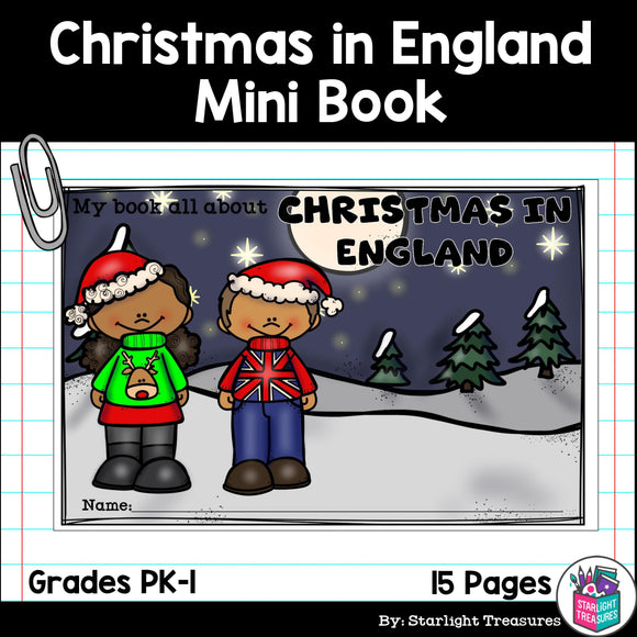 Christmas in England Mini Book for Early Readers