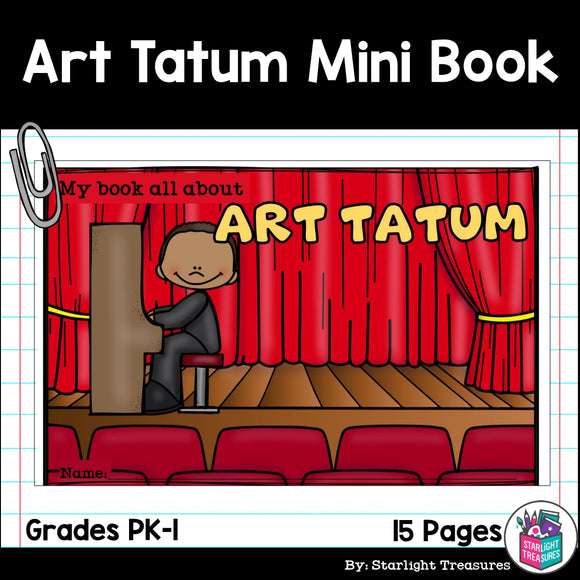 Art Tatum Mini Book for Early Readers: Black History Month