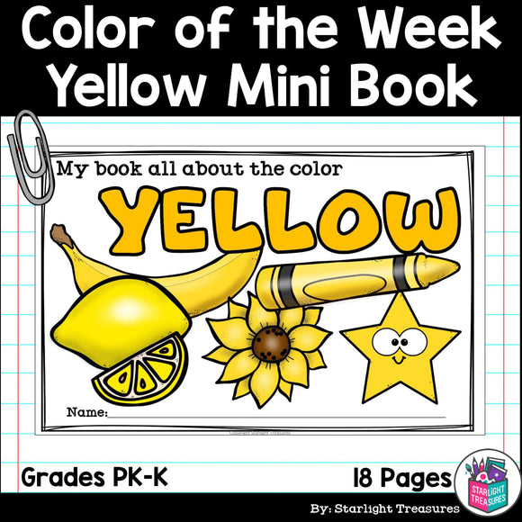 Colors of the Week: Yellow Mini Book