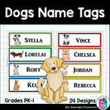 Dogs Name Tags - Editable