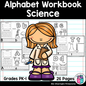 Worksheets A-Z Science Theme
