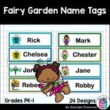 Fairy Garden Name Tags - Editable