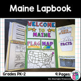 Maine Lapbook for Early Learners - A State Study