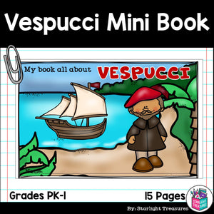 Amerigo Vespucci Mini Book for Early Readers