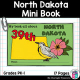 North Dakota Mini Book for Early Readers - A State Study