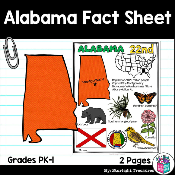 Alabama Fact sheet for early readers
