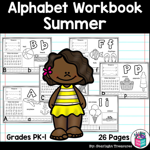 Worksheets for A-Z - Summer Theme