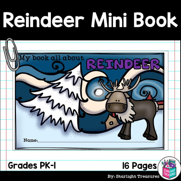 Reindeer Mini Book for Early Readers