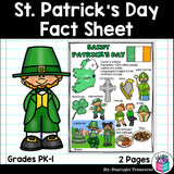 Saint Patrick's Day Fact Sheet for Early Readers