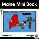 Maine Mini Book for Early Readers - A State Study