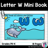 Alphabet Letter of the Week: The Letter W Mini Book