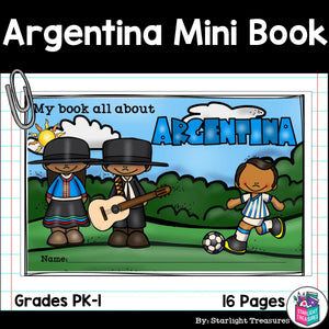 Argentina Mini Book for Early Readers