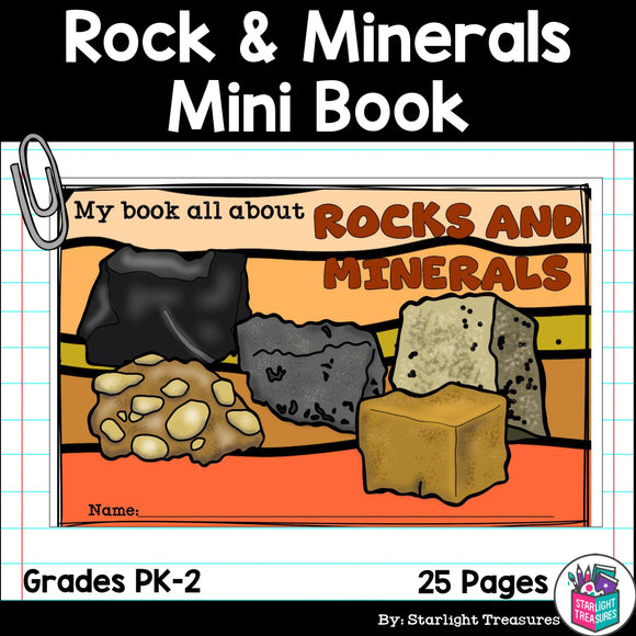 Type of Rocks and Minerals Mini Book for Early Readers: Rock, Minerals, Gemstone