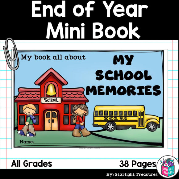 End of Year Mini Book - End of Year Memory Book
