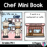 Chef Mini Book for Early Readers - Careers and Community Helpers
