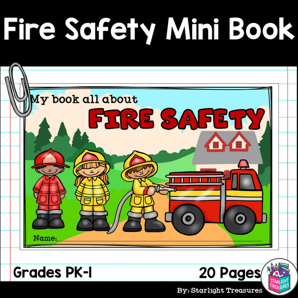 Fire Safety Mini Book for Early Readers