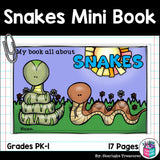Snakes Mini Book for Early Readers