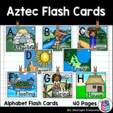 Alphabet Flash Cards for Early Readers - Aztecs