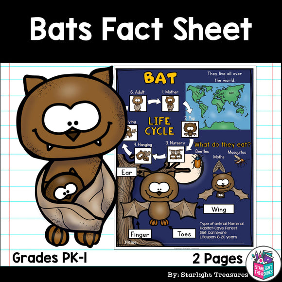Bat Fact Sheet for Early Readers