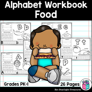 Worksheets A-Z Food Theme