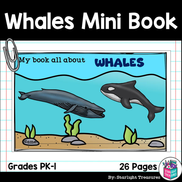Whales Mini Book for Early Readers