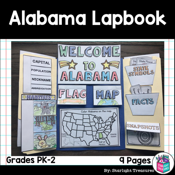 Alabama Lapbook for Early Readers