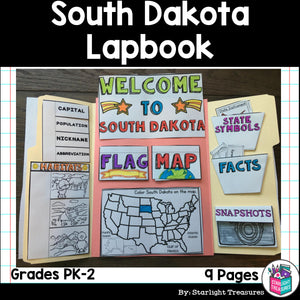 South Dakota Lapbook for Early Learners - A State Study