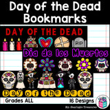 Day of the Dead Cut n' Color Bookmarks: Black and White AND Full Color