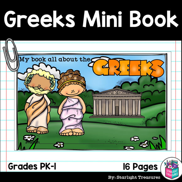 Ancient Greece Mini Book for Early Readers