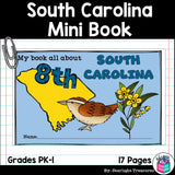 South Carolina Mini Book for Early Readers - A State Study