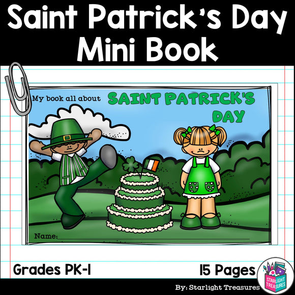 Saint Patrick's Day Mini Book for Early Readers: St. Patrick's Day