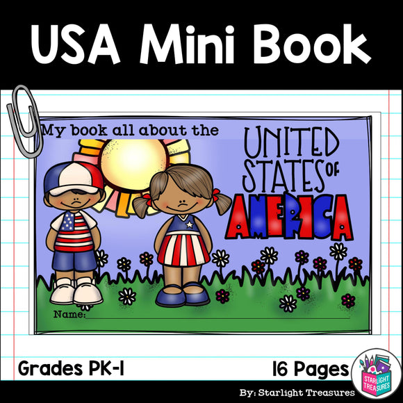USA Mini Book for Early Readers