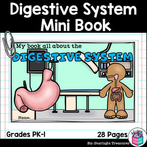 Human Body Systems: Digestive System Mini Book for Early Readers
