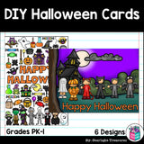 DIY Halloween Coloring Cards