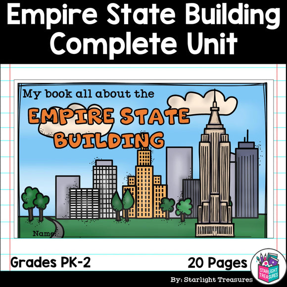 Empire State Building Complete Unit for Early Learners - World Landmarks