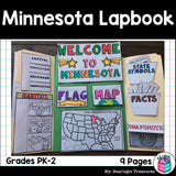 Minnesota Lapbook for Early Learners - A State Study