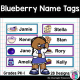 Blueberry Name Tags - Editable