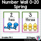 Number Wall Spring Theme: 0-20