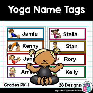 Yoga Name Tags - Editable