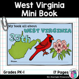 West Virginia Mini Book for Early Readers - A State Study